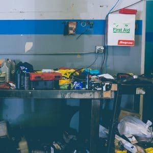 workshop waste for skip bin