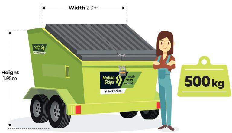 Mobile Skips - 4 cubic Metre Standard Skip bin - 500kg