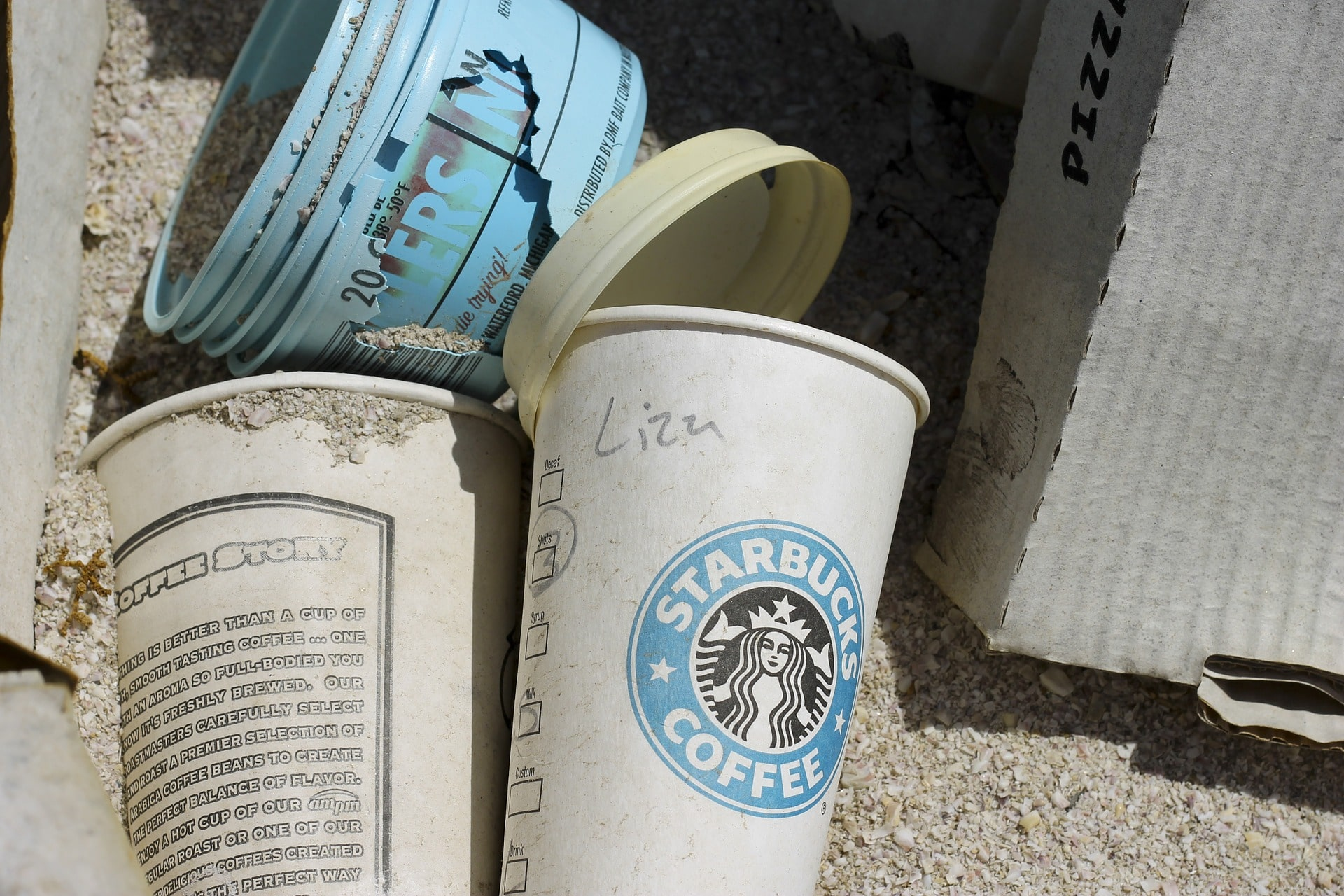 coffee cup waste